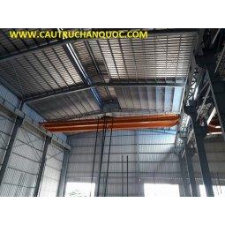 Cầu trục 3 tấn hàn quốc 2 dầm đôi khẩu độ nhà xưởng 20m