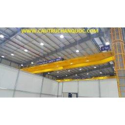Cầu trục 5 tấn hàn quốc 2 dầm đôi khẩu độ nhà xưởng 20m