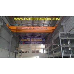 Cầu trục 7.5 tấn hàn quốc 2 dầm đôi khẩu độ nhà xưởng 10m